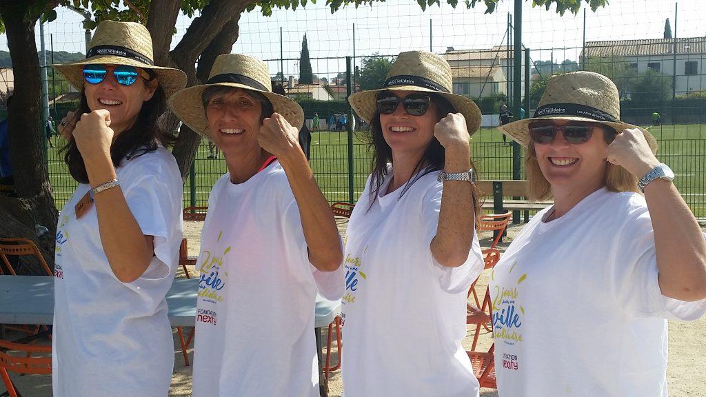 Photo montrant 4 collaboratrices de la fondation Abbé Pierre.